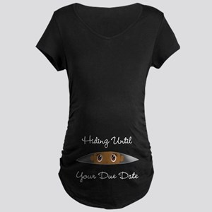 0d1b06a947ca Hiding Until  Your Due Date  CUSTOMIZE Maternity T